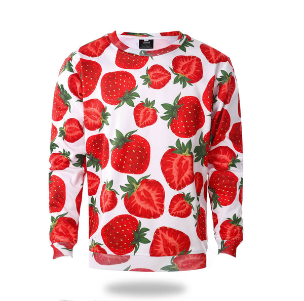 Sublimated Strawberry Pattern Design Sweatshirts-Vimost Sports