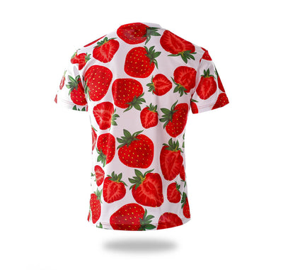 Strawberry pattern Design Tee shirts-Vimost Sports