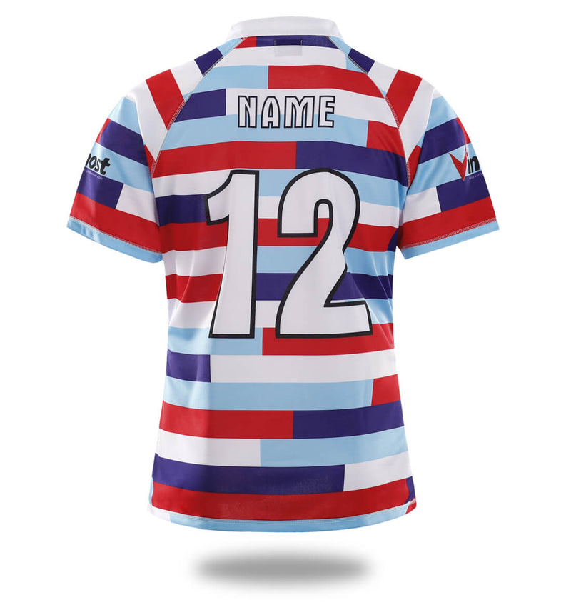 Sublimated Three Color stripes Design rugby Jersey