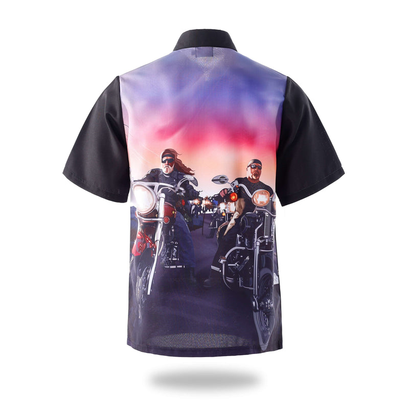 Sublimated Zip Two racers Design Shirts-Vimost Sports