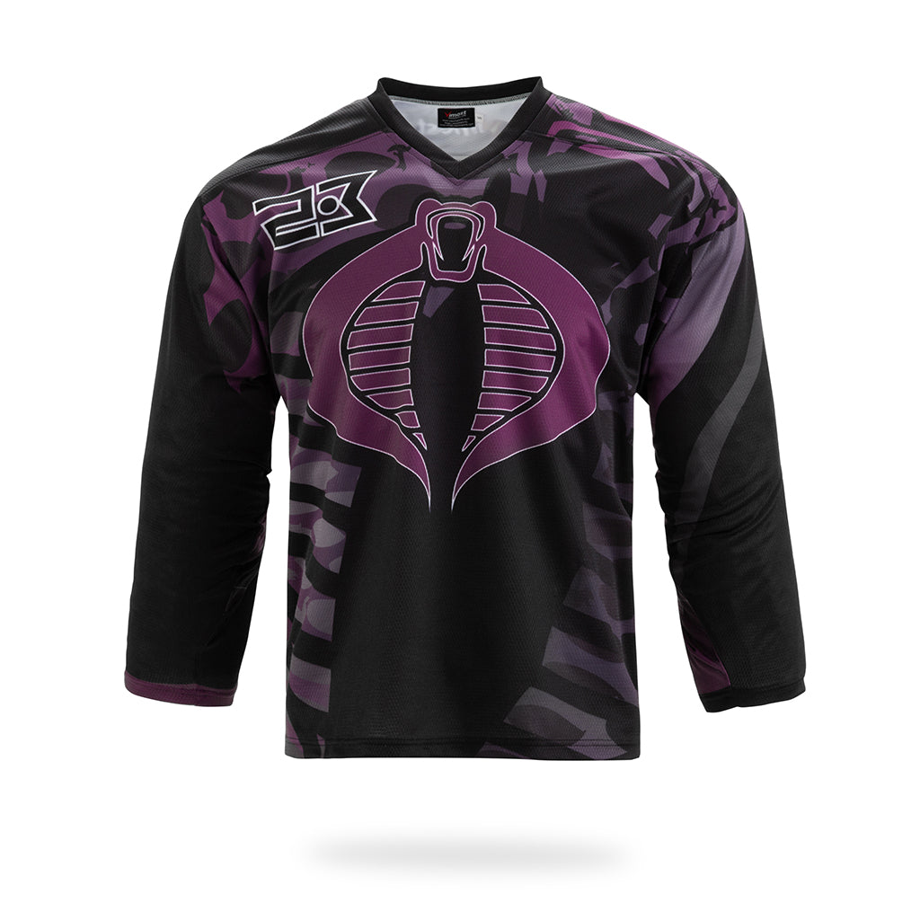 Viper Design Black Hockey Shirts-Vimost Sports