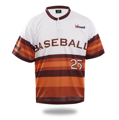 Sublimated Simple White Baseball Wear-Vimost Sports