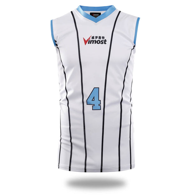 White Stripes Club Design Basketball Shirts and Shorts-Vimost Sports