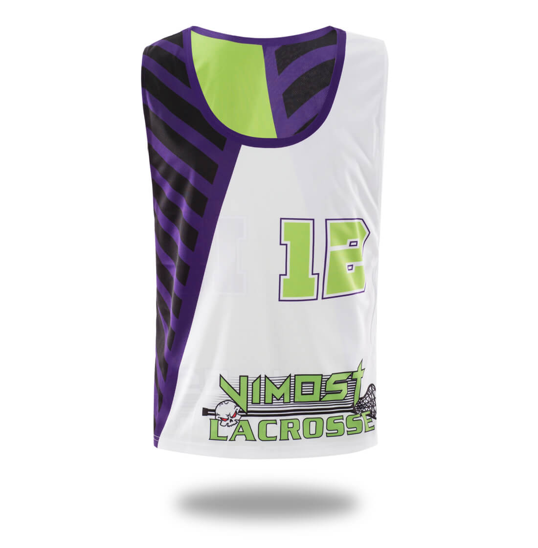 Sublimated White Green Design lacrosse Reversible And Shorts
