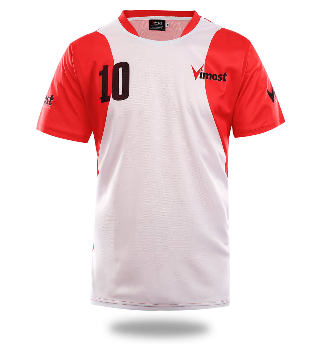White Red Design Sublimated Soccer Jersey