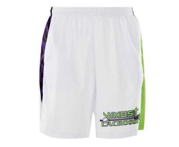 Sublimated White Green Design lacrosse Reversible And Shorts-Vimost Sports