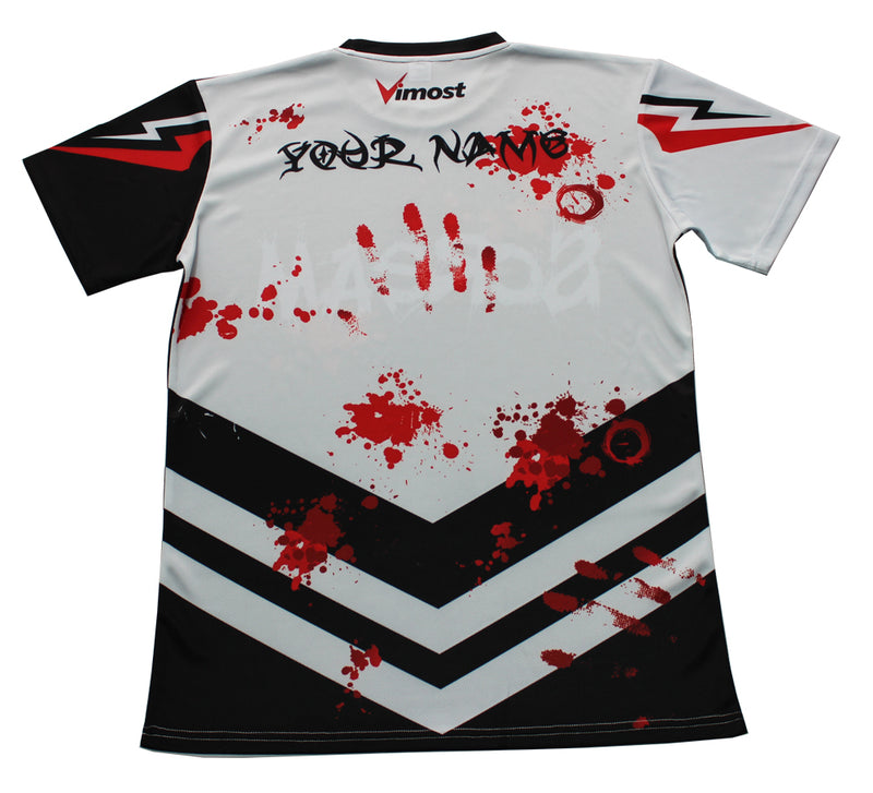 Scream Black and White Gaming Jersey