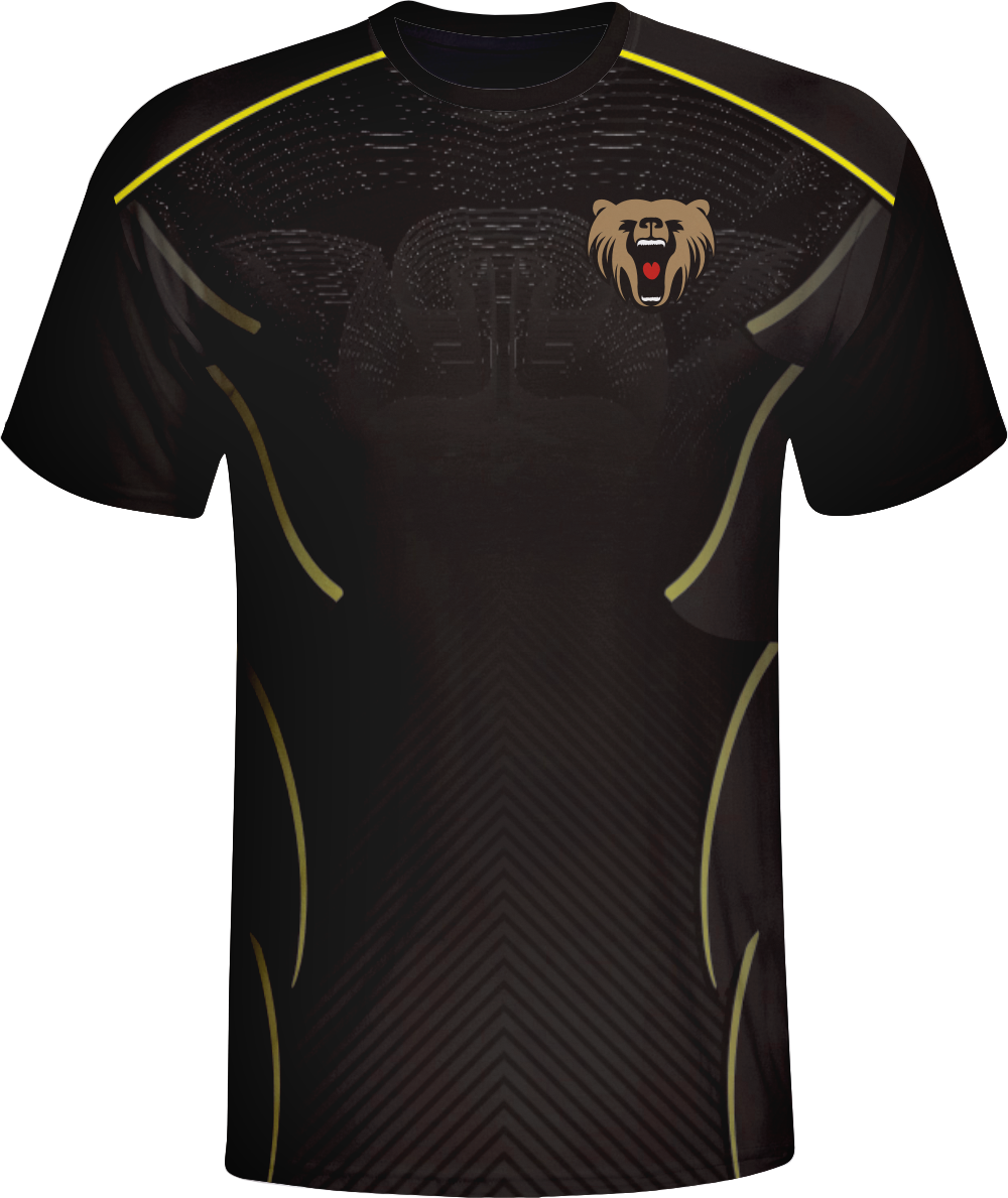 Vimost Black Design Sublimated Gamer Jersey Black Esports shirts