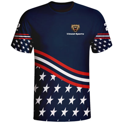 USA Flag Design Esports Jersey apparel Sublimation Shirts