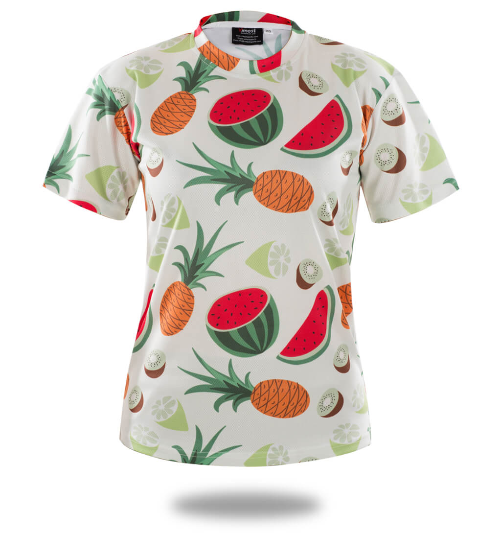 Sublimated Fruit Pattern Design Shirts