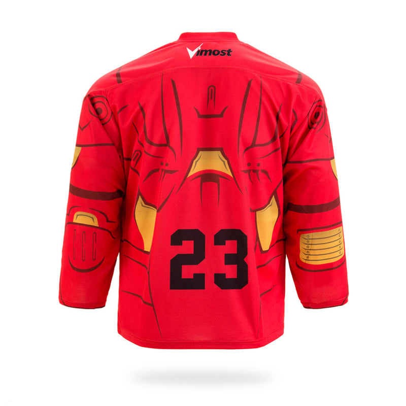 Iron Man Design Red Ice Hockey Jersey