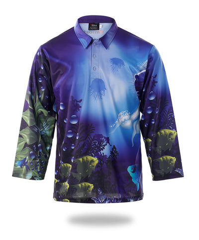Mens Long Sleeve Design Fishing Shirts-Vimost Sports