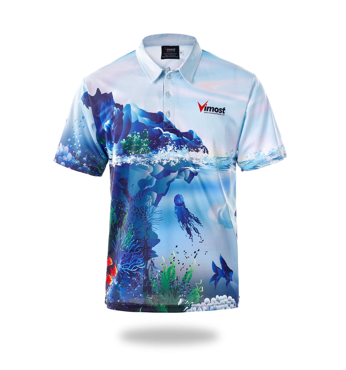 Mens Short Sleeve Design Fishing Shirts-Vimost Sports