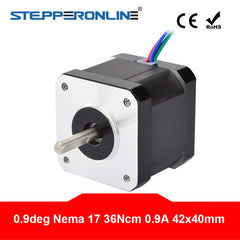 0.9 Degree Nema 17 Stepper Motor 36Ncm (51oz.in) 0.9A 4-lead 40mm Length for DIY 3D Printer CNC Robot