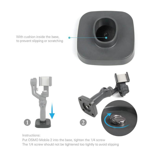 Stabilizer Base for DJI Osmo Mobile 2 Handheld Gimbal tabilizer Base Mount Stand Fit Phone Gimbal Base Stand Accessory