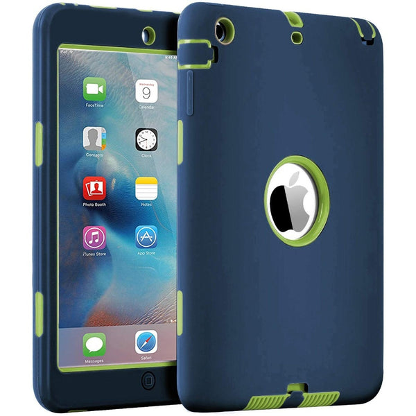 For iPad Mini 1/2/3 Retina Case 3 in1 Anti-slip Hybrid Protective Heavy Duty Rugged Shockproof Resistance Cover For iPad Mini