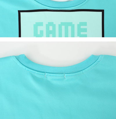 Woman's sweatshirt With Blue Design Game Over