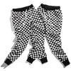Men Plaid Checkerboard Pants Fleece Thick Trousers Pants Mens Tactical Elastic Waist Fashion Joggers Sweatpants
