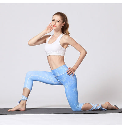 Sweet Flower Fitness Yoga Pants Sport Training Leggings Gym