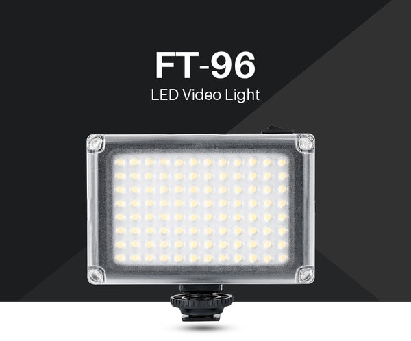 96 LED Video Light On Camera Photo Studio Vlog Continues Lighting for Zhiyun Smooth 4 DJI Osmo Pocket Canon DSLR Cameras