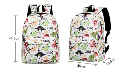 Water Resistant  Dinosaur Backpack Printed School Bags-Vimost Sports