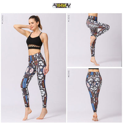 Stretch Sport Leggings Female Gym Workout Pants Yoga Running Tight Pant