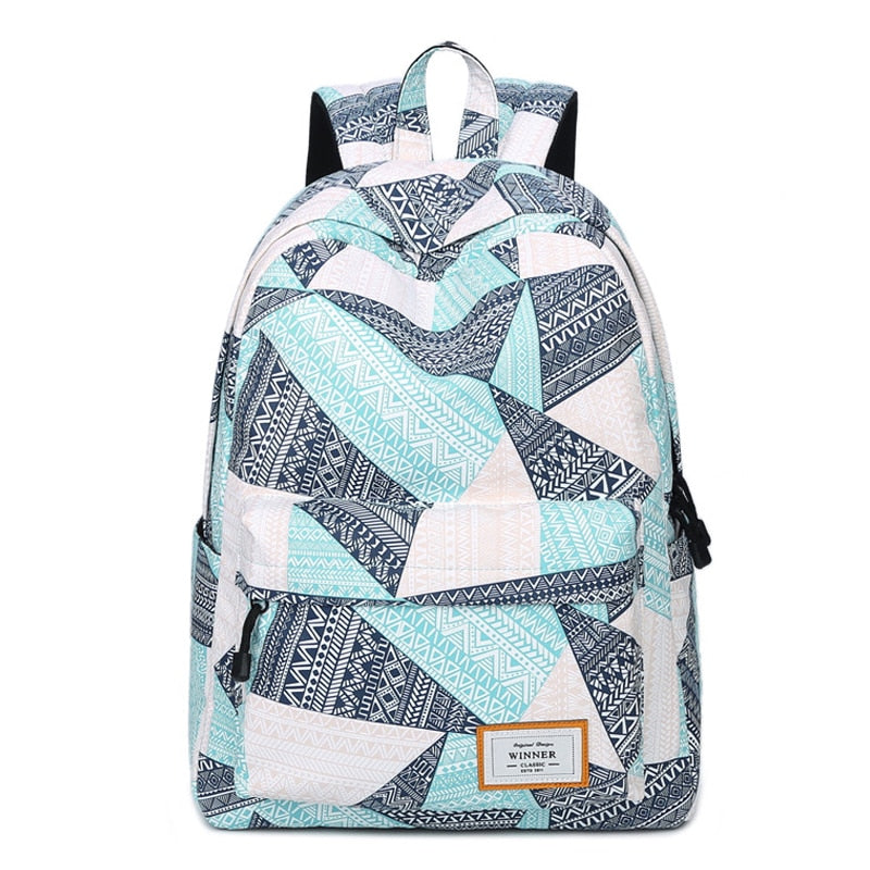 fashion shoulder bag preppy style printing backpacks