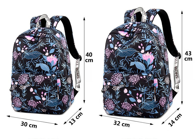 Large Capacity Women New Multifunction Flower Backpacks
