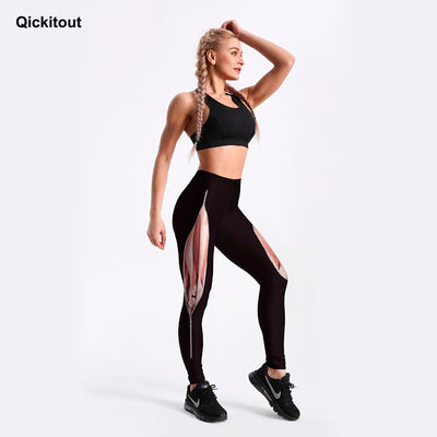 Women's Leggings Tearing Muscles With Zipper Printed Legging Black Fit Casual New Bottom Drop Shipping