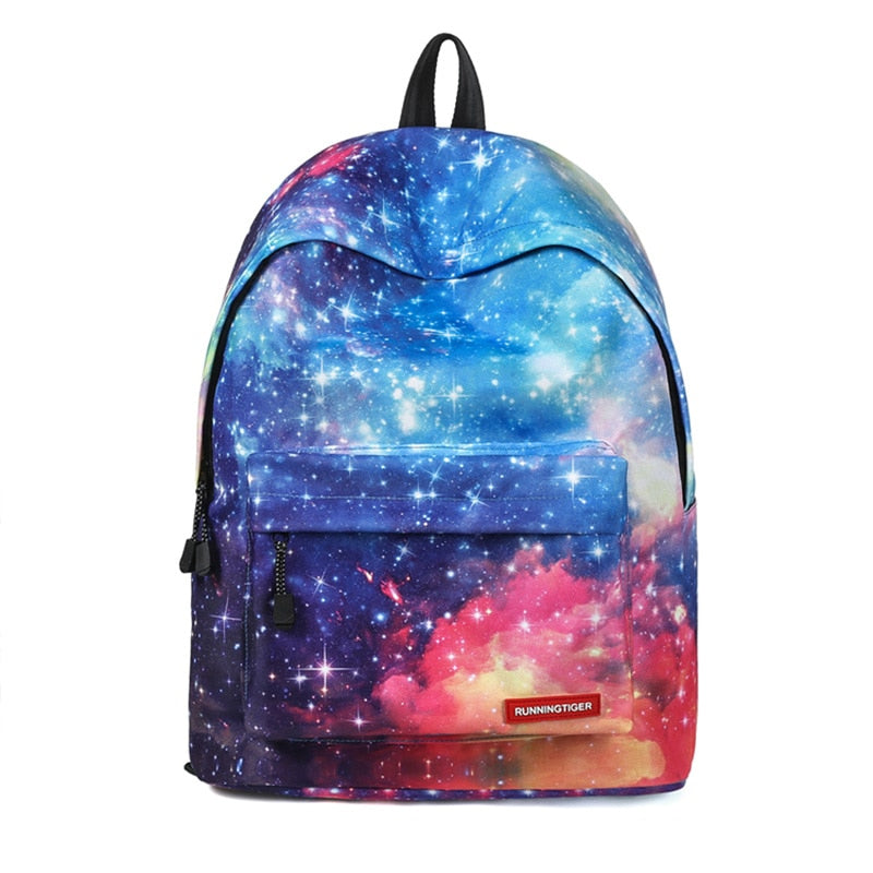 Star Universe Space Printing Backpack for Teenager Men