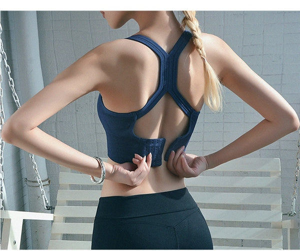 Sexy Sports Bra Solid Back Yoga Tank Top Women Fitness Dry Vest