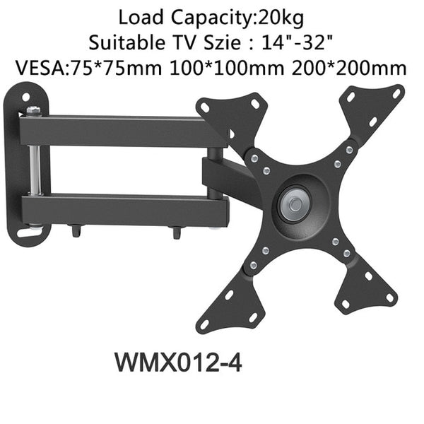 Universal Adjustable TV Wall Mount Bracket Universal Rotated Holder TV Mounts for 14 to 32 Inch LCD LED Monitor Flat Panel