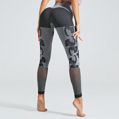 Stretchy Camo Sport Fitness Leggings Women High Waist Seamless Yoga Pants