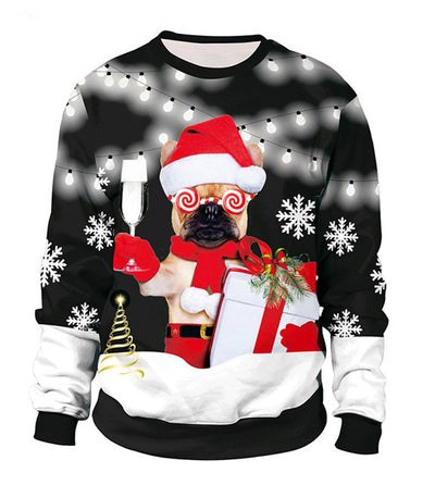 Funny Fake Hair Christmas Sweater For Holidays Autumn Winter Blouses Clothing