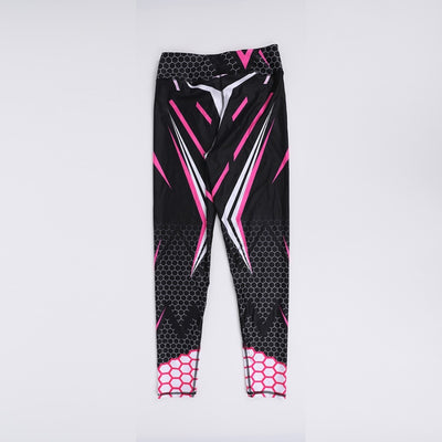 Sporting Elastic Force Breathable Fitness Leggings Pattern Digital Printing Outdoor Sportswear Skinny Leggings For Women