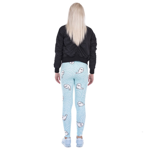 Sexy Legging White Seal Lovely Print High Elasticity Trousers Legins Women Leggings Woman Pants 100% Brand New