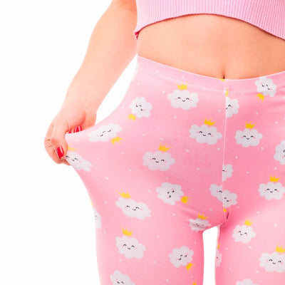Women High Waist Legging Rincess Cloud Printing Fitness Leggings Fashion Elegant Woman Pants
