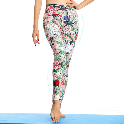 Yoga Pants Women Fitness Running Sports High Elasticity Printed