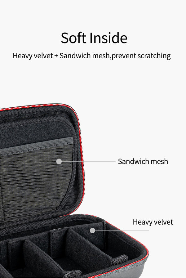 Portable Storage Bag Waterproof Carrying Case Adjustable Space for GoPro 9 8 7 6 5 Xiaomi Yi Osmo Action Accessories