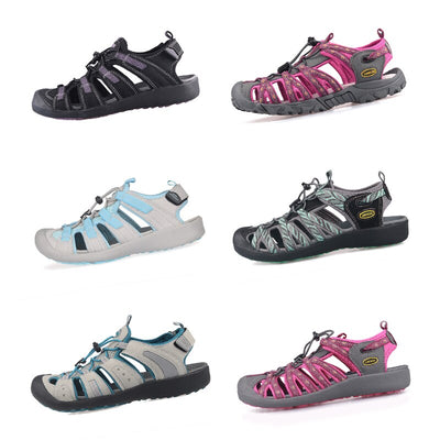 Women Outdoor Sandals Toecap Casual Breathable Summer Beach Shoes Anti-skid Lightweight Hiking Trekking Sandals Big Size