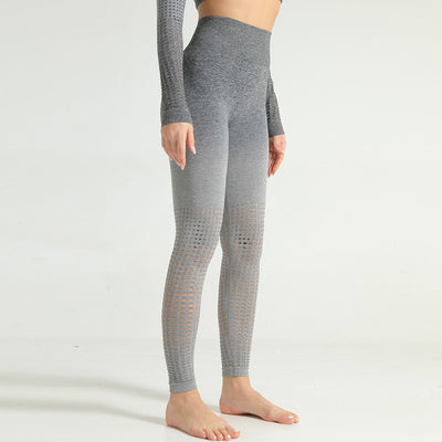 Seamless Hollow Out Yoga Athletic Fitness Leggings Women