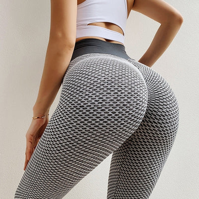 SEXY Sports Long Tights Solid High Waist Gym Running Wortout