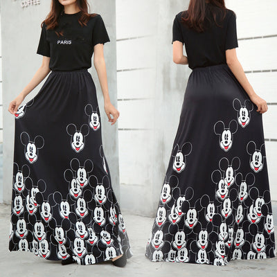 Women's Bud Skirt Mouse Waist Long Skirts