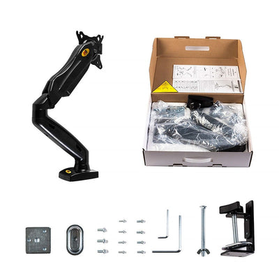 "Monitor Desk Mount Stand 17-27"" Computer Monitor Holder Arm Gas Spring Full Motion Flexible TV Monitor Mount Loading 2-6.5kg"