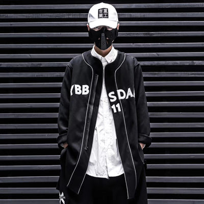 Hip Hop Fiash Reflective Letter Embroideried Men Thick Cargo Jackets Streetwear Harajuku Male Cardigan Coats