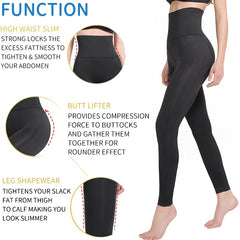 Anti Cellulite Shapewear Compression Leggings Leg Slimming Body Shaper High Waist Tummy Control Panties Thigh Sculpting Slimmer