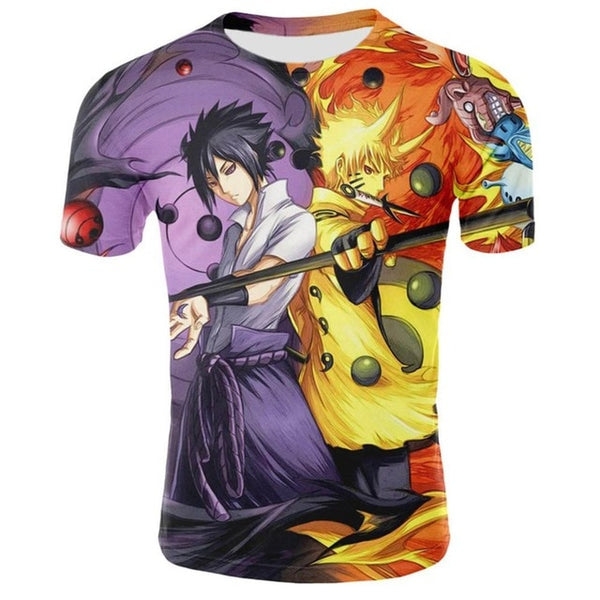 Naruto t shirt Men/women Fashion Streetwear Hip Hop Harajuku 3D Print T-shirt Casual Shirt Funny tee shirts Tops