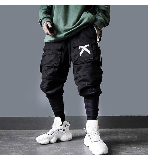 Hip Hop Joggers Men Detachable Multi-Pocket Elastic Waist Sweatpants Techwear Pants Streetwear Cargo Pants Men