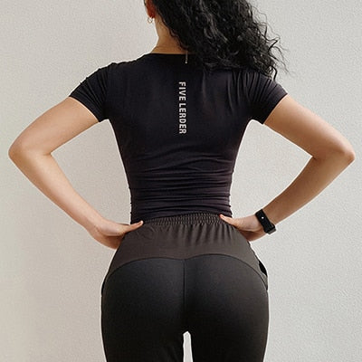 Women Quick dry Short Sleeve Sports T-Shirt  Yoga