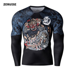 3D Printed Harajuku Fitness Tops t-shirt compression shirts Anime Men Sports Fashion Japanese male Top Clothing